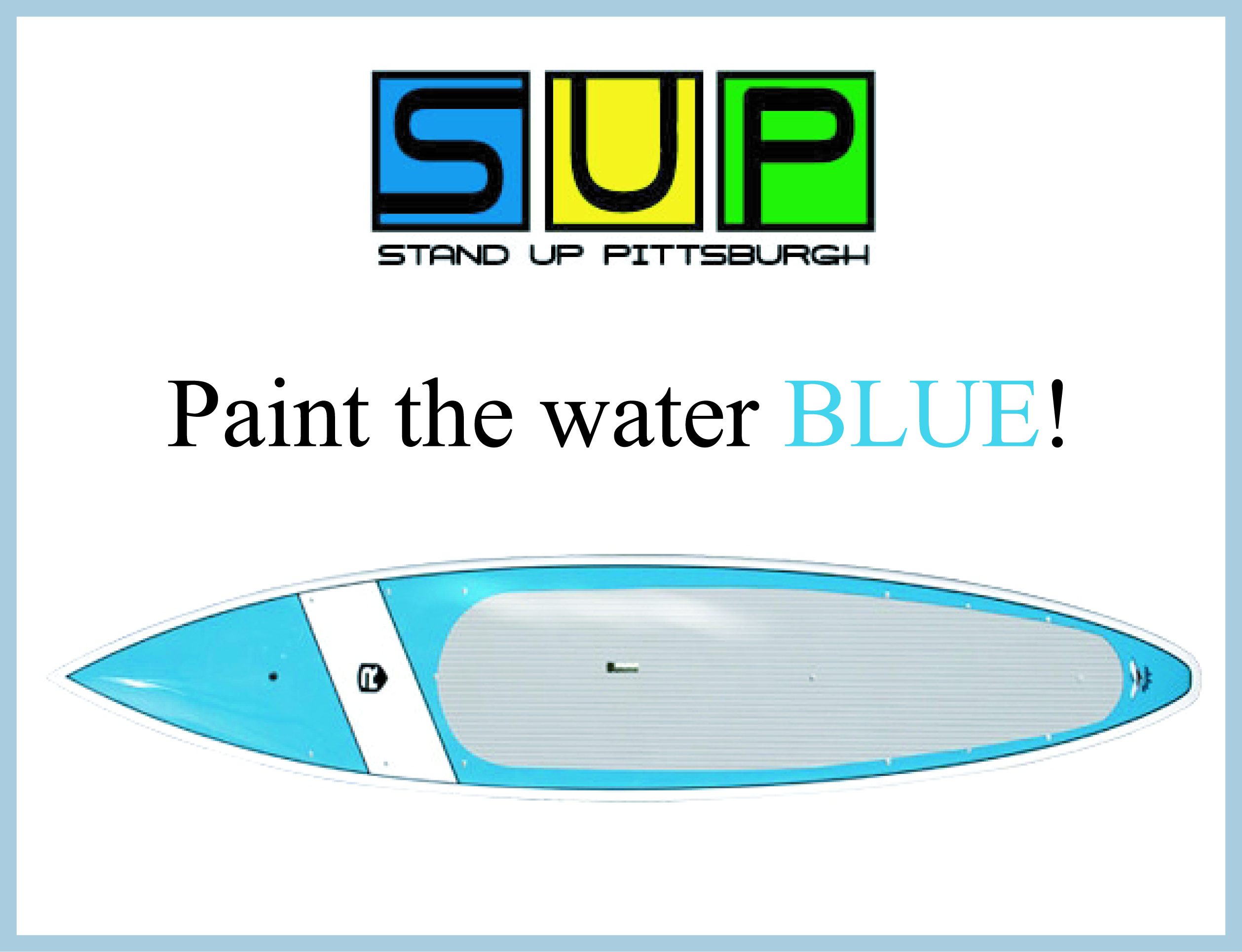 Paint the Water Blue!